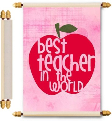 Lolprint Teachers Day Gifts Scroll Greeting Card(Multicolor, Pack of 1)