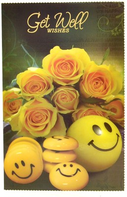 Reliable Smiley Get Well Soon Greeting Card