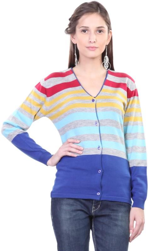 Pazaro Women's Button Striped Cardigan