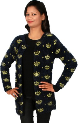 Sheezworld Women's Button Printed Cardigan