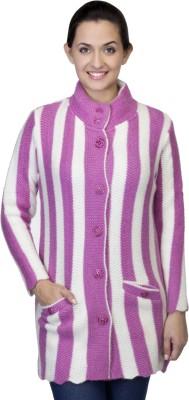 One Femme Women's Button Striped Cardigan