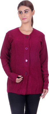 eCools Women's Button Solid Cardigan