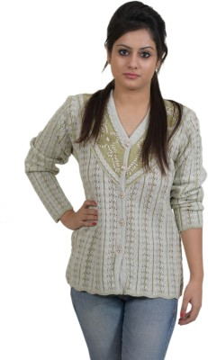 Colors and Blends Women's Button Self Design Cardigan