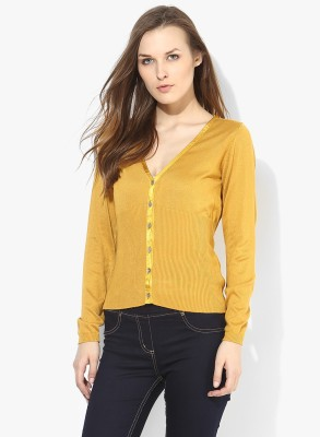 Annabelle by Pantaloons Womens Button Solid Cardigan