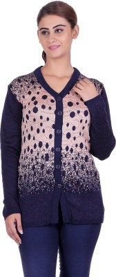 Ecools Women's Button Solid, Polka Print Cardigan