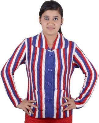 Austrich Women's Button Striped Cardigan