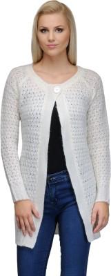 Curvy Q Women's Button Self Design Cardigan