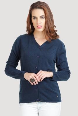 Moda Elementi Women's Button Solid Cardigan