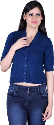 Update Women's Button Solid Cardigan