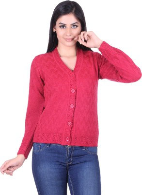 Pazaro Women,s Button Solid Cardigan