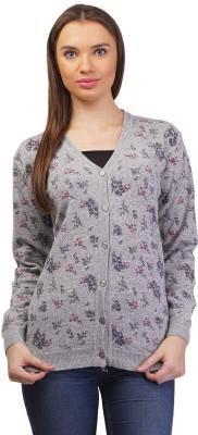 Pazaro Womens Button Floral Print Cardigan