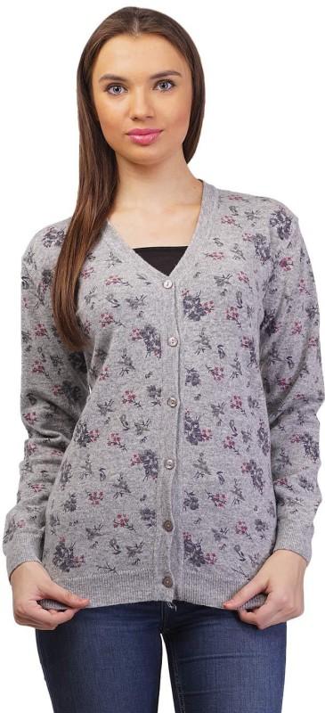 Pazaro Women's Button Floral Print Cardigan