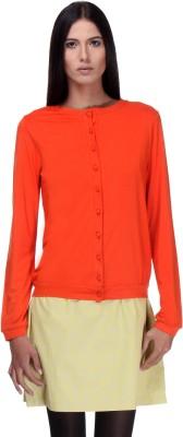 Kaaryah Women's Button Solid Cardigan