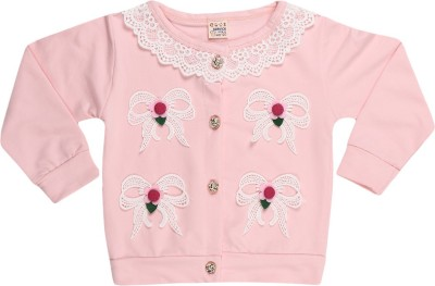 Lilpicks Couture Girl's Button Applique Cardigan