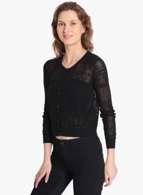 Vero Moda Women's Button Solid Cardigan