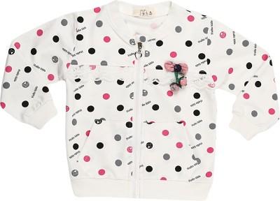 Lilpicks Couture Baby Girl's Zipper Polka Print Cardigan