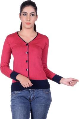 Ogarti Women's Button Solid Cardigan
