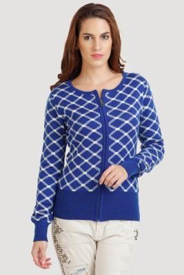 Moda Elementi Women's Zipper Printed Cardigan