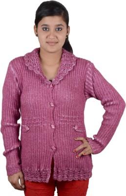 Austrich Women's Button Solid Cardigan