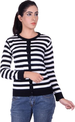Ogarti Womens Button Striped Cardigan