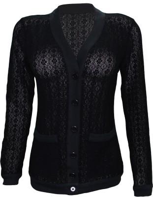 Attuendo Women,s Button Woven Cardigan