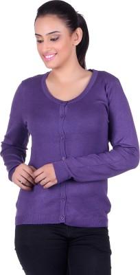 Deutz Women's Button Solid Cardigan