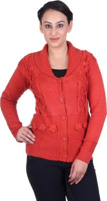 LAADLI JI Women's Button Solid, Woven Cardigan