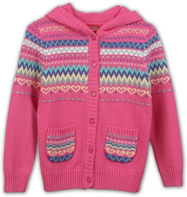 Lilliput Girl's Button Self Design Cardigan