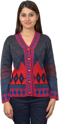 TAB91 Women's Button Embroidered Cardigan