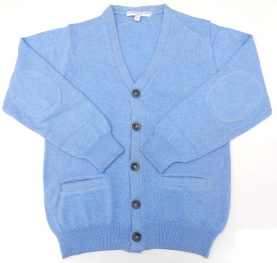TENDER TOUCH Boy's Button Solid Cardigan