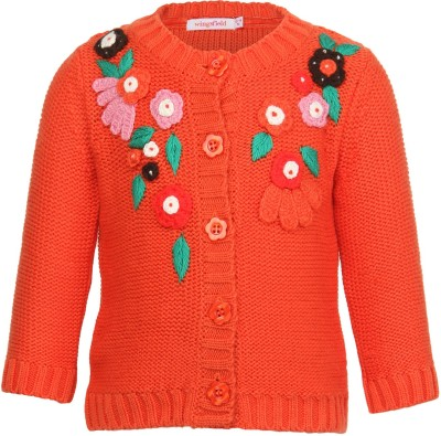 Wingsfield Baby Girl's Button Cardigan