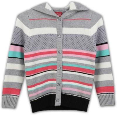 Lilliput Girl's Button Striped Cardigan