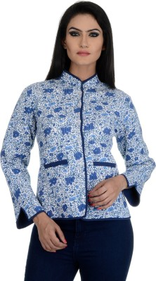 Aarohee Women's Button Floral Print Cardigan