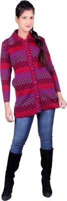 Pinaque Women,s Button Solid Cardigan