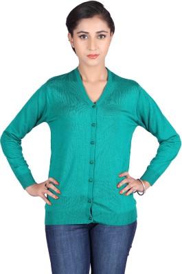Montrex Women,s Button Solid Cardigan