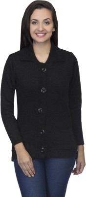 One Femme Women's Button Solid Cardigan