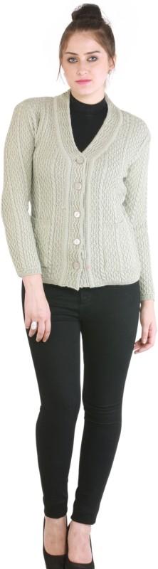 Rebecca Women's Button Self Design Cardigan