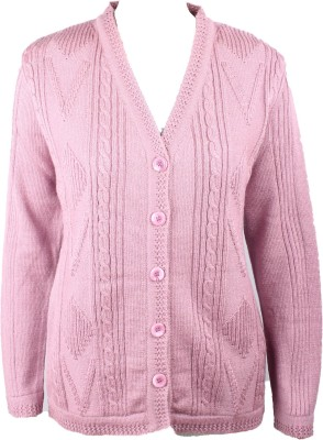 Elson Women's Button Solid Cardigan