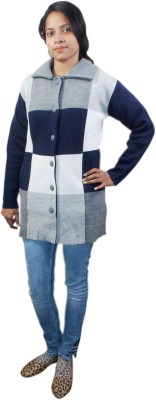 Vulture Women's Button Checkered Cardigan