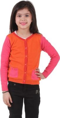 Kids Village Girl's Button Solid Cardigan