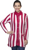 One Femme Women's Button Striped Cardiga...