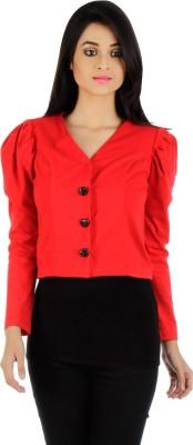 Vea Kupia Women's Button Solid Cardigan