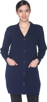 CLUB YORK Women's Button Self Design Cardigan at flipkart