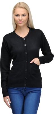 Curvy Q Women's Button Solid Cardigan