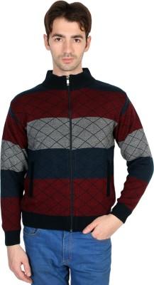 Ebry Men's Zipper Striped Cardigan