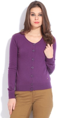 United Colors of Benetton. Women's Button Solid Cardigan at flipkart