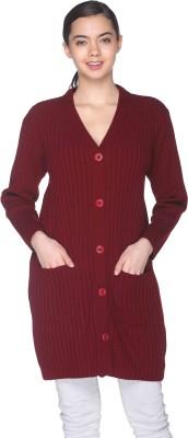 CLUB YORK Women's Button Self Design Cardigan