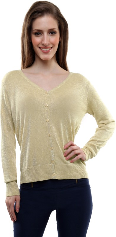 Miss Chase Women's Button Solid Cardigan