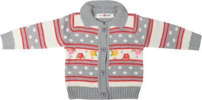 Offspring Baby Girl's Button Embroidered Cardigan