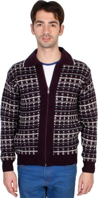 Ebry Men's Zipper Checkered Cardigan